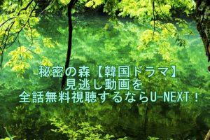 秘密の森【韓国ドラマ】見逃し動画を全話無料視聴するならU-NEXT!